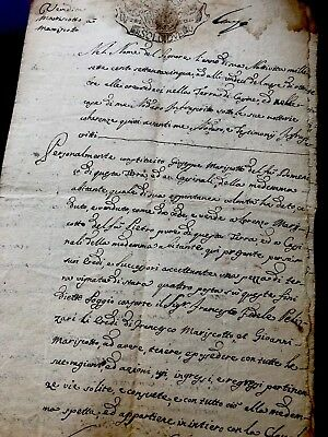 RARE 1770 signed and stamped manuscript
