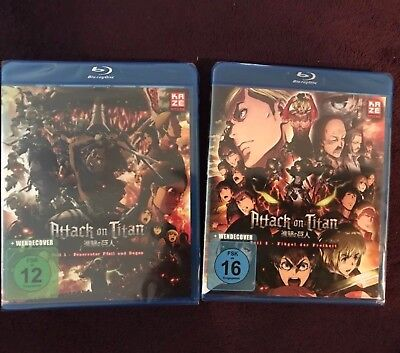 Attack on Titan Movie/Film 1+2 (neu/OVP) Anime (Blu-ray)