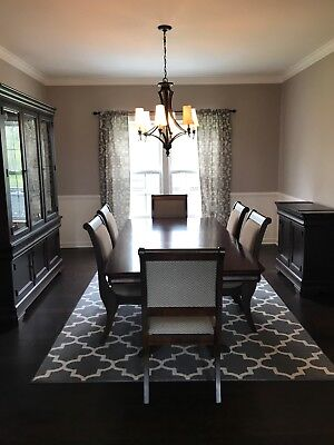 Bassett Dining Room Set - Table, Server, China Cabit +6 Chairs