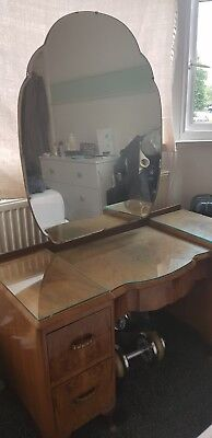 PRICE DROPPED !!!! 1950s Art Deco Style Dressing Table with Mirror