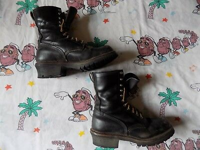 VTG Red Wing Logger Boots size 10 Men's high lace Combat Boots Vibram