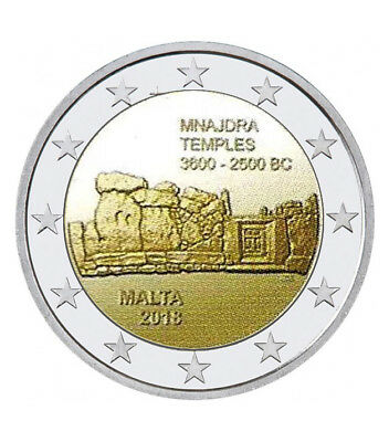 Malta 2 Euro MNAJDRA commemorative coin 2018