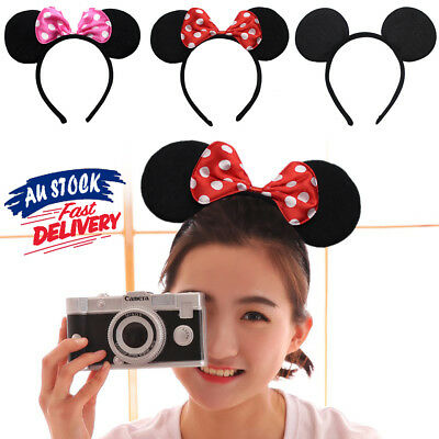 Costume Bow MICKEY Fancy Dress Unisex Party Decoration Minnie Mouse Ear Headband