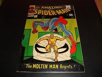 The Amazing Spider-Man #35 Marvel Comic Book 1966 FN Condition (6.0) Molten Man