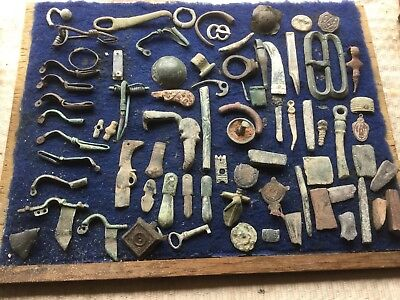 Large Lot Of Detecting Found Largely Bronze Artefacts