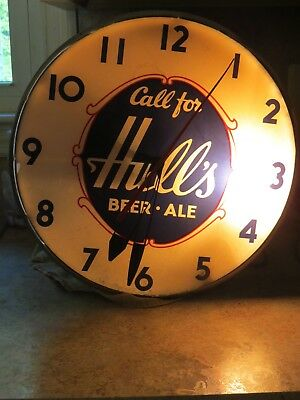 Hulls Vintage Beer Clock From The 1940s Works Great Only One Bulb Doesnt Work