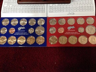 2007 Denver and Philadelphia United States Mint Uncirculated Coin Sets