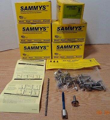 25 Sammys Threaded Rod Concrete Anchoring System 2-3/4 Shutter Tapcon 8165957