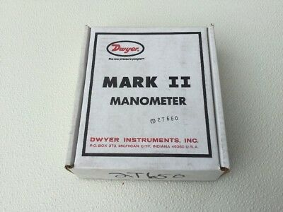 New In Box ~ Dwyer Mark Ii 2 Manometer