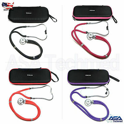 Sprague Rappaport Stethoscope Dual Head Adult + Lightweight Storage Case Bag