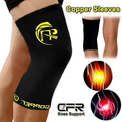 Copper Knee Support Brace Copper Leg Compression Sleeve Tommie Fit  Sports Wraps