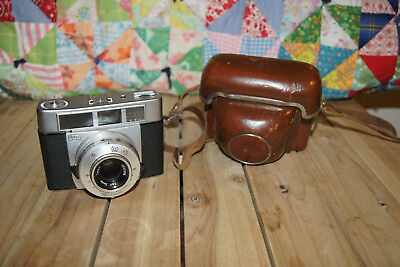 Zeiss Ikon Symbolica Prontormat w/Carl Zeiss Tessar f2.8 50mm Vintage With Case