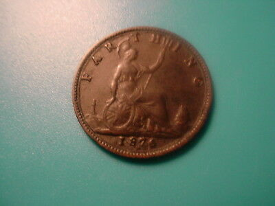 British 1876-H Farthing In Very Nice Condition