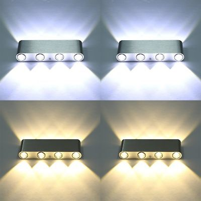 5-8 LED Modern Aluminum Up Down Wall Light Sconce Indoor Decorative Lamp Fitting