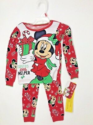 disney baby minnie mouse santas little helper christmas pajamas 2pc