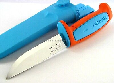 Mora Morakniv Basic 546 STAINLESS Knife Sweden BLUE ORANGE LIMITED EDITION