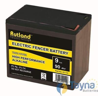 Rutland 9V 90Ah Alkaline Electric Fence Batterie - Large