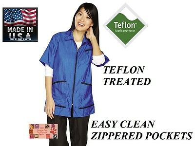 TOP PERFORMANCE ZIP FRONT Teflon JACKET R STYLIST GROOMER Barber STAIN RESISTANT