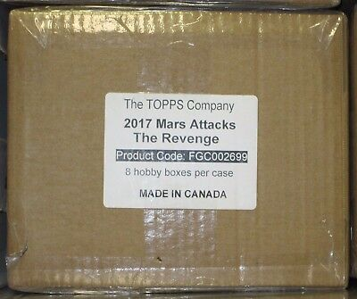 2017 Topps Mars Attacks  Revenge Sealed Case (8) Boxes- Gold,sketch,autograph