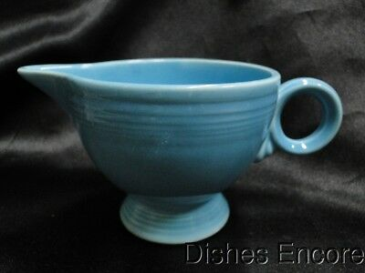 Homer Laughlin Fiesta (Old): Turquoise Creamer / Cream Pitcher AS IS 3""