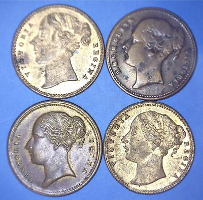 Four (4) Different Die Varieties - To Hanover Sovereign Whist Counters - *8071