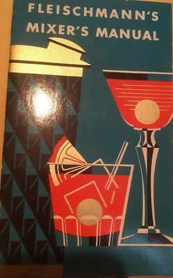Collectible Vintage FLEISCHMANN'S Mixers Manual, cocktail drink recipe booklet