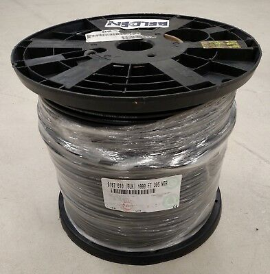 BELDEN RG59 Coaxial Cable Spool 1000ft Communications Cable BLACK 9167 010