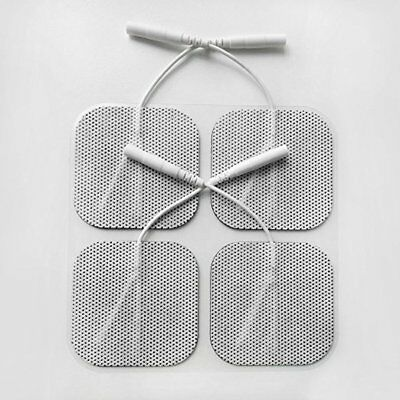 16 Electrode Pads EMS for TENS Massager 7000, 3000 Units - 2x2 Inch White Cloth