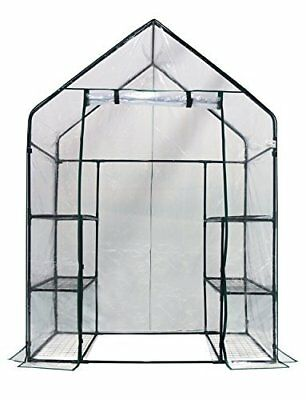 "Homewell Mini Walk-In Greenhouse 3 Tiers 6 Shelves, 56""W x 29""D x 77""H"