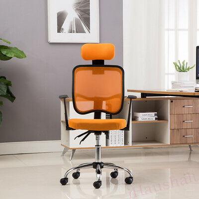Ergonomic Head Neck Support Office Chair Computer Desk Swivel Racing Gaming Seat