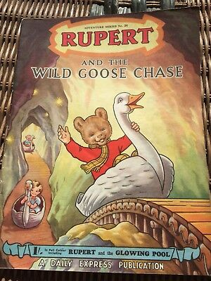 Rupert Adventure Series No 20 From 50's & 60's Rare Comic