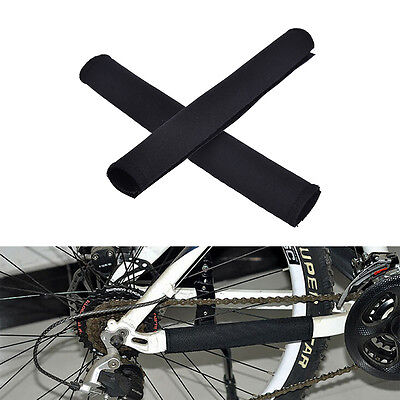 2X Cycling Bicycle Bike Frame Chain stay Protector Guard Nylon Pad Cover Wrap LR