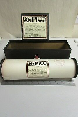 Vintage Ampico Piano Music Roll # 100915 Dinner Music Series E  With Box