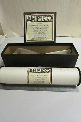 Vintage Ampico Piano Music Roll # 100595 Four Favorite Ballads No. 4 With Box