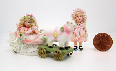 Tiny Doll's Doll and Doll with Sheep by Le Coffre d'Emilie