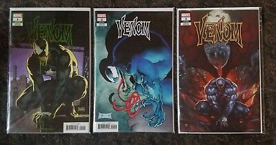 Venom 1 2 3 1:25 Incentive Variants 1 Rivera 2 Keith 3 SKAN NM+ 1st Knull