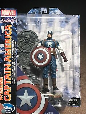 """Disney Store Marvel Select AVENGING CAPTAIN AMERICA Avengers 7"""" Special Edition"""