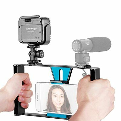 Neewer Smartphone Vídeo Rig con Regulable 36 LED Video Luz (Rig Azul + 36 LED)