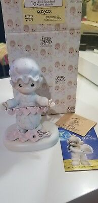 Enesco Precious Moments E2821 1983 You Have Touched So Many Hearts Figurine