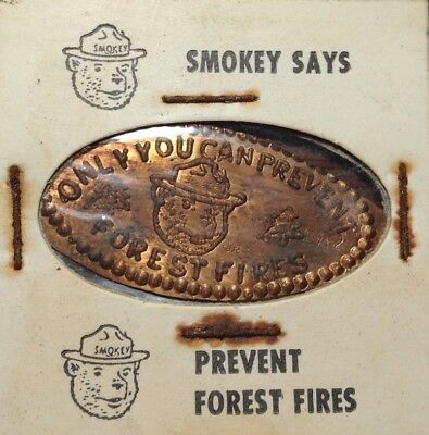 Only You Can Prevent Forest Fires Smokey The Bear On A 1967 Lincoln Cent