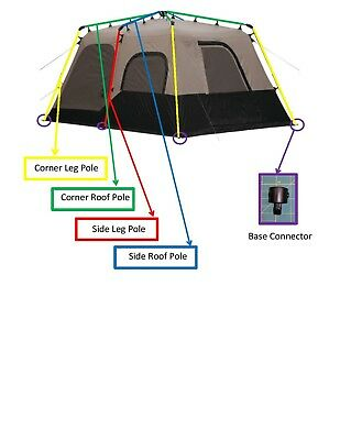 Coleman Instant Tent 8 6 Amp 4 Person New Center Hub Parts