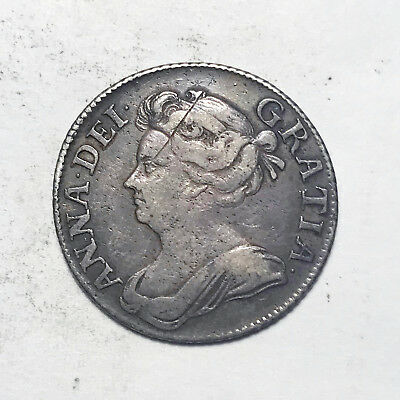 Great Britain 1709 Shilling: Queen Anne