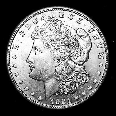 1921 S ~**ABOUT UNCIRCULATED AU**~ Silver Morgan Dollar Rare US Old Coin! #112