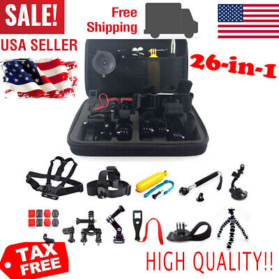 26 in1 Mount Accessory Kit Fit For GoPro 5 4 3+ 3 2 Camera Chest Harness Helmet