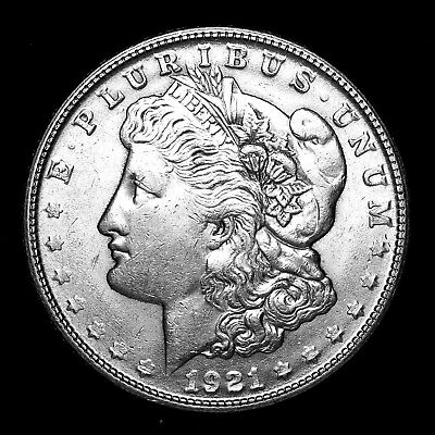 1921 S ~**ABOUT UNCIRCULATED AU**~ Silver Morgan Dollar Rare US Old Coin! #740