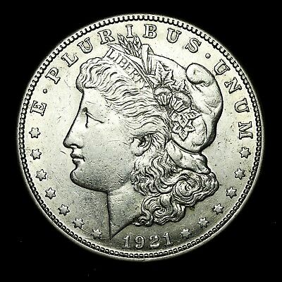 1921 S ~**ABOUT UNCIRCULATED AU**~ Silver Morgan Dollar Rare US Old Coin! #656