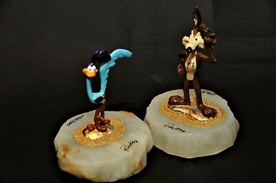 Ron Lee WB Roadrunner & Wile E Coyote Signed Limited RARE 1996 Warner Brothers