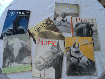 Vintage Seven Issues of Horse Magazine 1956 and 1957