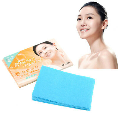 Hot Portable 50pcs Oil Control Absorption Tissue Blotting Papers Skin Care 19E8