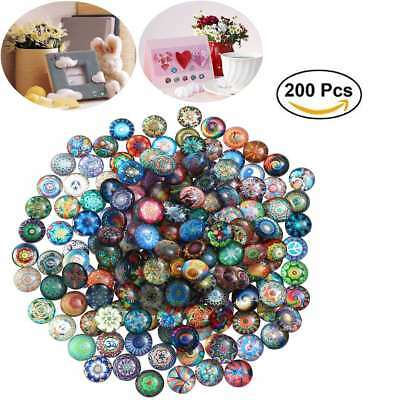 200pcs 12mm Mixed Colour Vitreous Glass Mosaic Tiles DIY Art & Craft Supplies AU